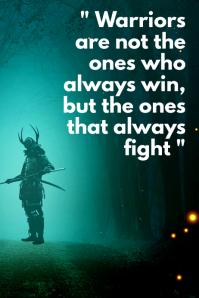 Samurai inspirational poster template