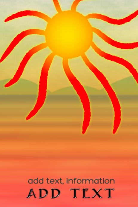 sand dessert with burning hot sun