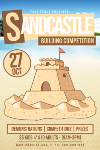 Sandcastle Building Competition Poster