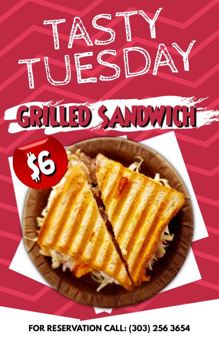 sandwich flyer template postermywall