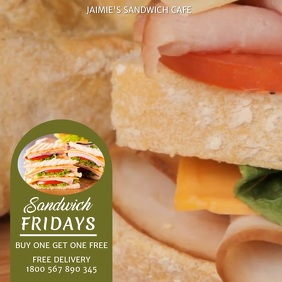 SANDWICH FLYER VIDEO TEMPLATE