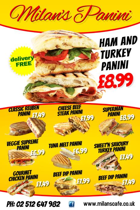 Sandwich Menu Flyer