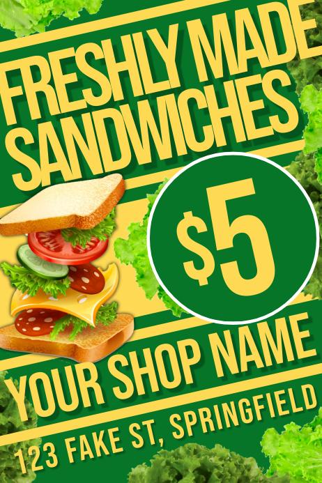 Sandwich Shop Poster