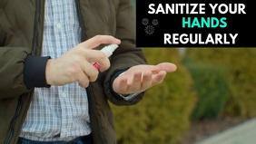 SANITIZE YOUR HANDS วิดีโอหน้าปก Facebook (16:9) template