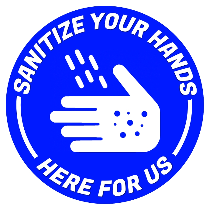 Sanitize Your Hands Sign Template Square (1:1)