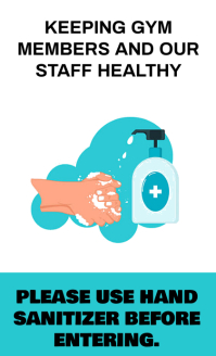 SANITIZER HAND WASH PLEASE BOARD SIGN TEMPLAT Umthetho we-US template