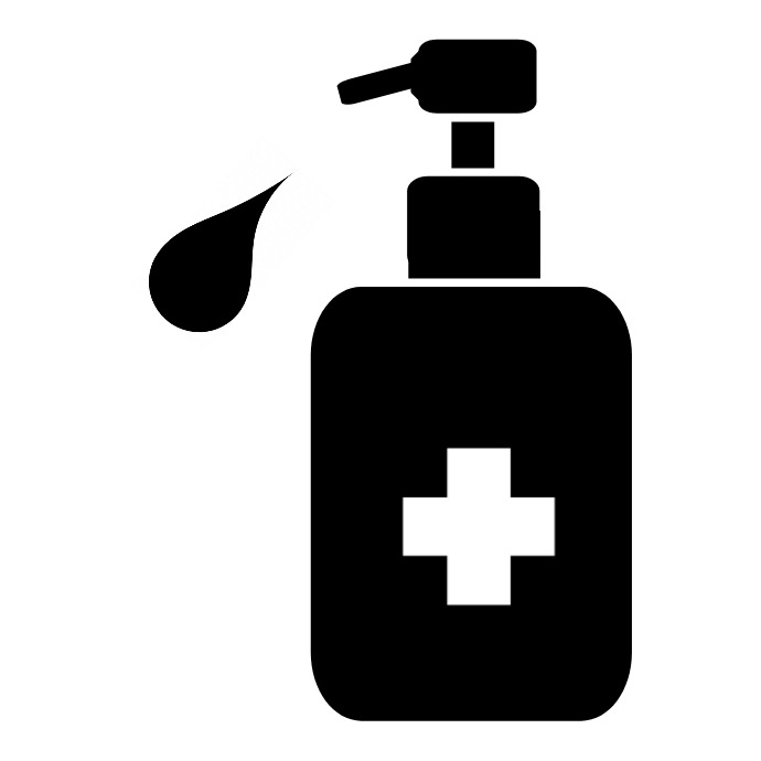 Sanitizer Logo Logótipo template