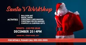 Santa's Workshop Sampul Acara Facebook template
