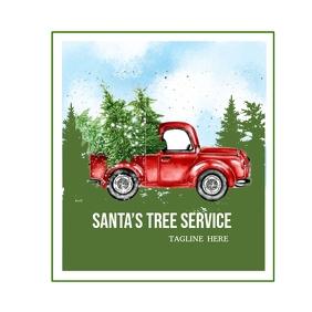 Santa's Tree Service Logo