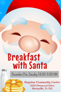 Santa Breakfast Poster Template