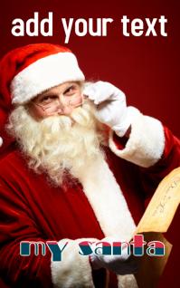santa card Kindle 封面 template