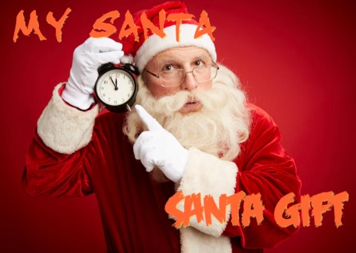 Santa christmas Gift A6 template