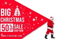 Santa Christmas Sale Poster