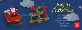 Santa Claus Christmas Facebook Cover Video