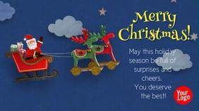 Santa Claus Christmas Facebook Cover Video Digitale Vertoning (16:9) template