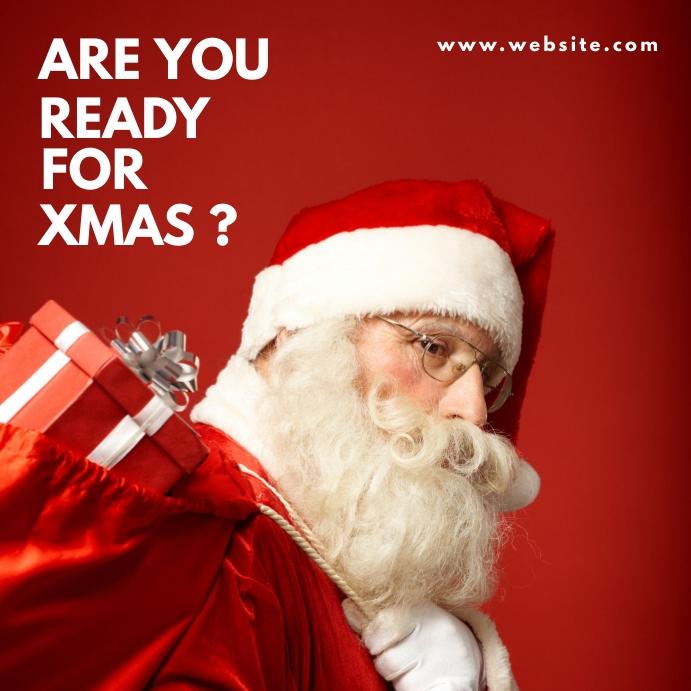 santa claus generic christmas advertising Post Instagram template