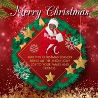 Santa Claus Merry Christmas Wish Сообщение Instagram template