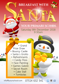 Santa Event Poster A4 template