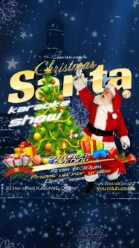 Santa Karaoke Show Pantalla Digital (9:16) template