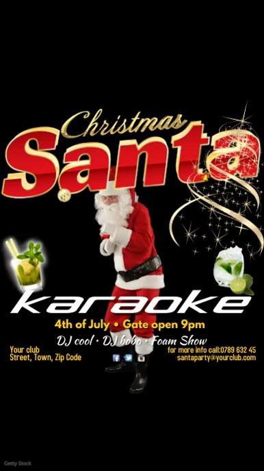 Santa Karaoke Video Post