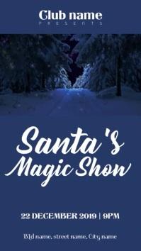 Santa magic show