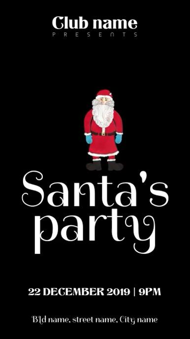 Santa party invite