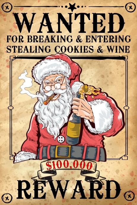 santa wanted poster template