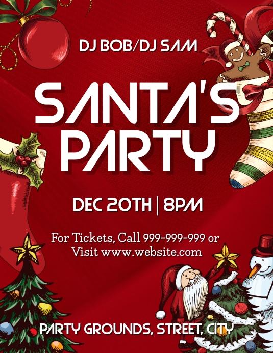 Santas Party Pamflet (VSA Brief) template
