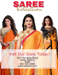 Saree Flyer Template