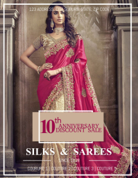 Saree Sale Flyer Template