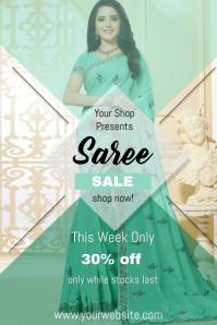 Saree Sale Flyer template
