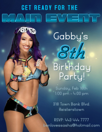 Sasha Banks bday party invite