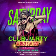 SATURDAY NIGHT CLUB PARTY Instagram Post template