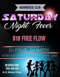Saturday Night Fever Template Flyer (US Letter)