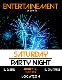 Saturday party night flyer advertisement