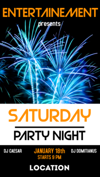 Saturday party night whatsapp status and inst
