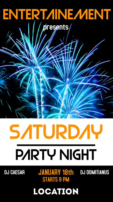 Saturday party night whatsapp status and inst Instagram-verhaal template