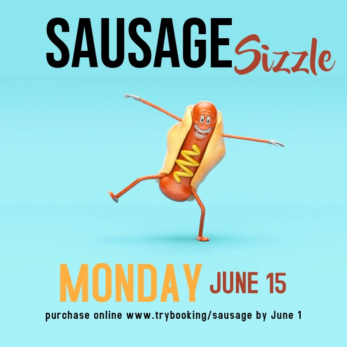 Sausage Sizzle Square (1:1) template