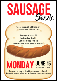 Sausage Sizzle Fundraiser Flyer Poster large