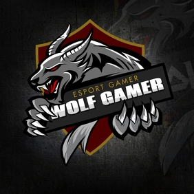 Savage Wolf Gamer Logo