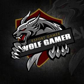 Savage Wolf Gamer Logo template