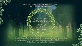 Environment poster templates postermywall save earth video ad template yelopaper Image collections