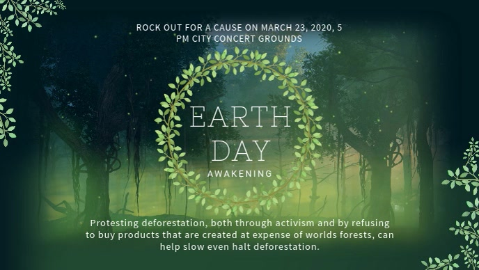 Save Earth Video Ad Template Facebook-Covervideo (16:9)