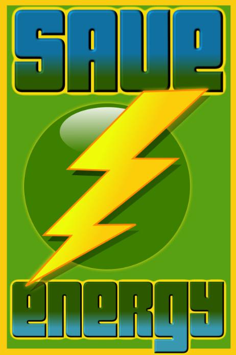 Hemat Energi Poster1 2020 Templat Postermywall