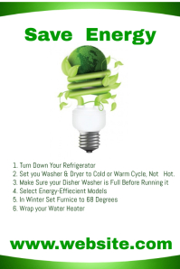 Save Energy Flyer