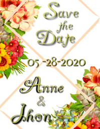 save for wedding Flyer (US Letter) template