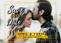 Save Our Date Gold Annoucement
