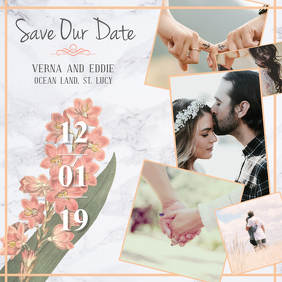 Save our Date Instagram Post
