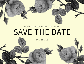 Save The date Vintage Card Template