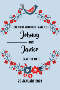 Save The Date: Wed Invite 2021-1 Banner 4' × 6' template